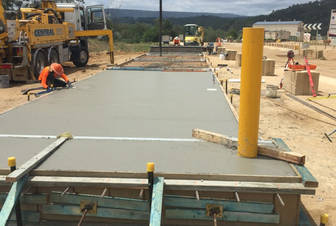 Weighbridge Base Pour